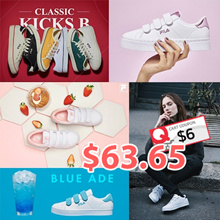 [FILA] ♥Get Qoo10 Coupon $6♥ 100% Authentic FILA Original 20Type Womens COURT DELUXE Canvas Velcro Sneakers