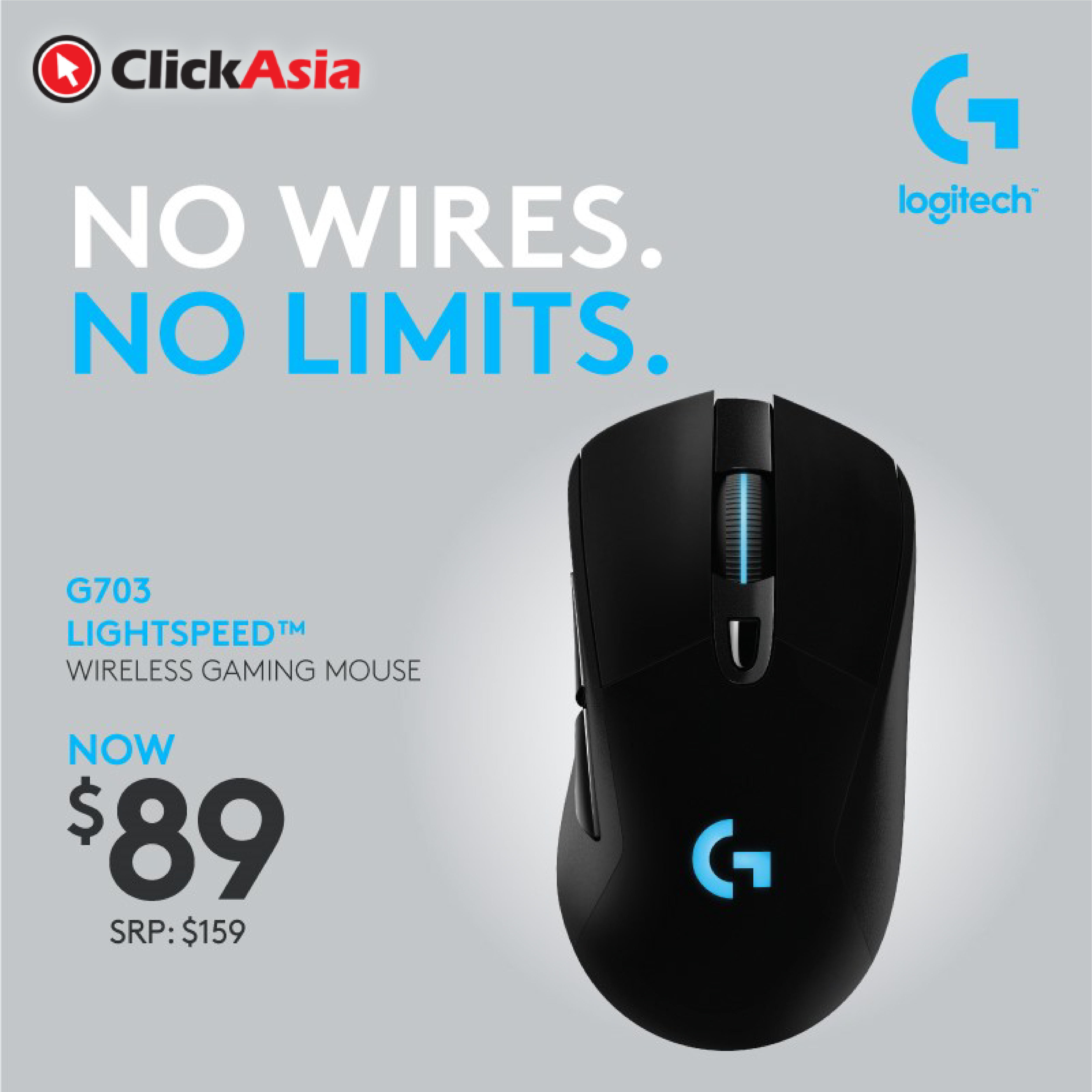 578ce1b466a fit to viewer. prev next. Logitech G703 LIGHTSPEED Wireless Gaming Mouse ...