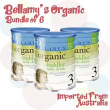 Bellamys Organic Stage 3 / Bundle of 6 x 900g