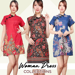 CNY Dress - Cheongsam Dress - Dress Batik Collection