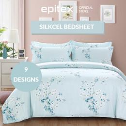 Epitex Silkcel 1000TC Tencel Blend Fitted Sheet set   Bedsheet   Bedset   Fitted Sheet Set   Bedding