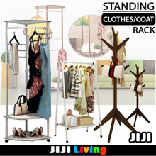 ★Standing Clothes Rack ★Pinewood ★Carbon Steel ★Laundry ★Organizer ★Storage ★Shoe Cabinet ★Fast