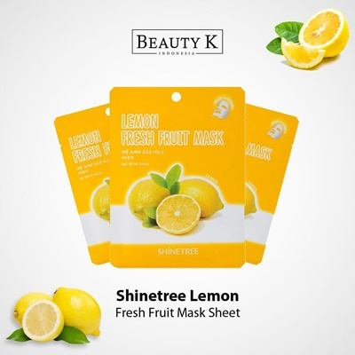 5Pcs Lemon Fresh Fruit Mask Sheet
