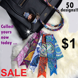 ★Twilly★Small Scarf★ Twilly Bag Scarf★ Bag protection scarf★HairBand★MultiPurpose Scarf★$1 ONLY★