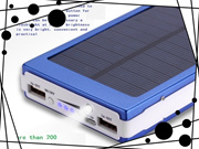 Solar Mobile Power Supply 20000 Mah Double Usb Output Large Capacity Power Bank General Charging Tre