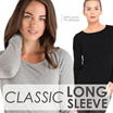 New! Women Basic Tee C-Neck Longsleeve - 4 Colors - Good Quality = Basic T-shirt / Women T-shirt / Kaos Wanita / Baju Wanita / Best Seller