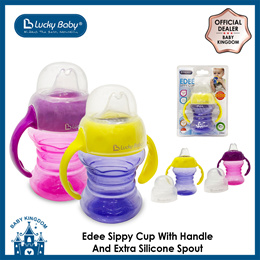 Lucky Baby Edee Sippy Cup With Handle N Extra Silicone Spout