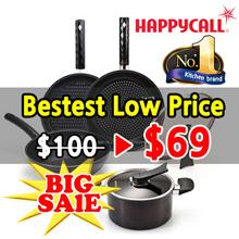 [Happy Call] ★Lowest ★ Black Edition series  Premium Pot n Pan 2~5 set / Wok / Pots / Ceramic coatin