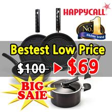 [Happy Call] ★Lowest ★ Black Edition series  Premium Pot n Pan 2~5 set / Wok / Pots / Ceramic coatin