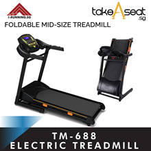 TM-688 motorized exercise treadmill foldable Music speaker