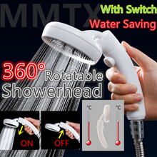 360° Rotatable High Pressure Showerhead Handheld Shower Head with Switch Water Conservation Saving