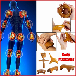 Thai Massage Wood Body Foot Reflexology Acupuncture Thai Massager Roller Therapy