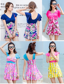 Lady Swim wear swimsuit (D8838) baju renang