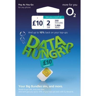 prepaid europeuk o2 travel sim card 2gb data250mins for 30 days - Europe Travel Sim Card