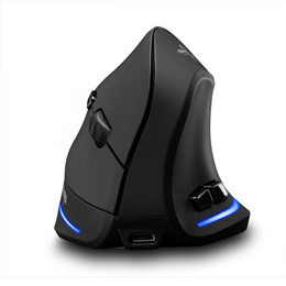 Zelotes F-35 Wireless Vertical Mouse Rechargeable 2400 DPI Optional Wireless Vertical Mouse Ergonomi