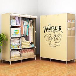 WARRIOR 2018 Multifunction Wardrobe lemari pakaian rak baju SJ0054