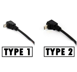 1ft 30cm SHORT Right Angle Micro USB Cable BLACK for Google Chromecast