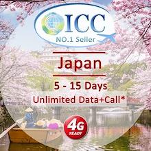 ◆ ICC◆【Japan Sim Card·5-15Days】Softbank❤Plug and Use❤4G LTE + Unlimited data❤