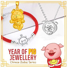 【2019 Year of Pig】Chinese Zodiac Jewelry 🌷 Short Pendant Necklace 🌷 Charm Bracelet 🌷 Fashion Acc.
