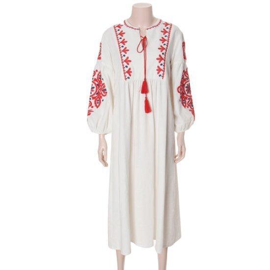 エッコノロブルラハンボヘミアンワンピースATDR7B517 面ワンピース/ 韓国ファッション