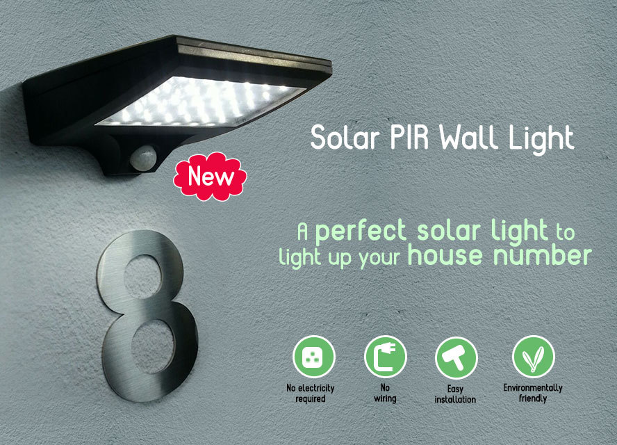 Qoo10 - Solar PIR Wall Light : Small Appliances