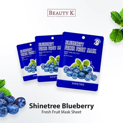 5Pcs Blueberry Fresh Fruit Mask Sheet