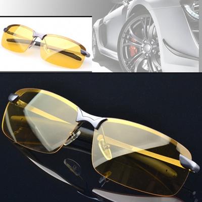 Kacamata Terpolarisasi Pria Mengemudi Lensa Kuning Malam Visi Mengemudi  Kacamata bbe7773745