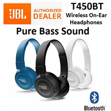 JBL T450BT Bluetooth Wireless On-Ear Headphone Headset Earpiece Foldable Lightweight Local Warranty