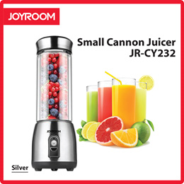 Joyroom Stainless Steel Pyrex Glass Portable Small Cannon Juicer JR-CY232 (Silver)