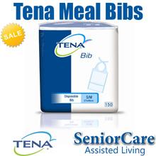 Tena Plastic Waterproof Disposable Adult Towel Bandana Food Feeding Bib Bibs Clothing Protector