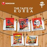NONGSHIM 1 PAKET ( ISI 5 Pcs X 120 Gr ) Hot Spicy/Shrimp Shin Ramyun | Kimchi Ramyun | Neoguri Spicy Seafood | Claypot |