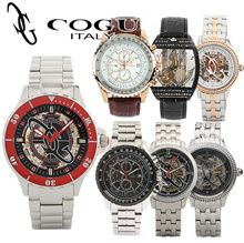 ★COGU★New Stock Update! Authentic automatic skeleton wrist watch/No battery/Free shippng/