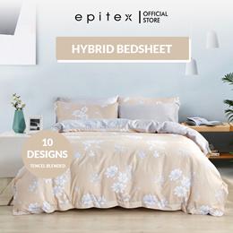 Epitex New Designs 1000TC Hybrid Botanic Silk Printed Fitted Sheet Set (w/o quilt cover) | Bedsheet