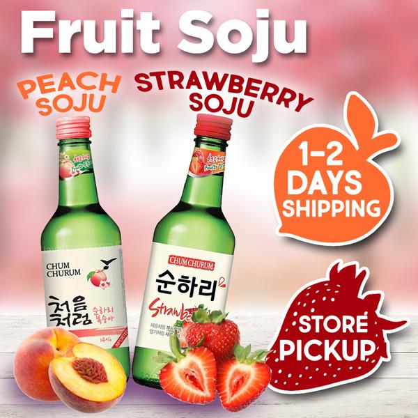 Korean FRUIT Soju  Strawberry / Peach     360ml / 8 Flavors