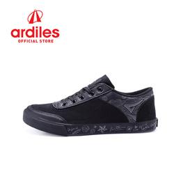 [Ardiles] Aca Doodle Sepatu Sneakers Hitam/Hitam