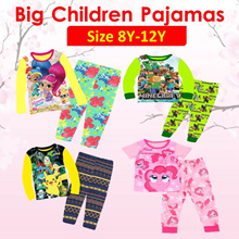 ★Mamas Luv★23/03 New Arrival Kid Pajamas big size for boy and girl 8y-12y