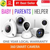 💖READY STOCK💖[360 Smart Camera] 720p/1080p FHD Camera - Night Vision | Wireless| HD IDMA APPROV