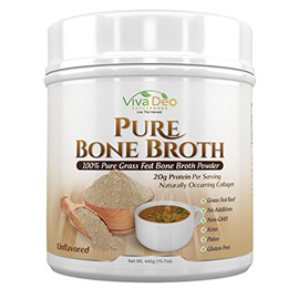 Grass Fed Bone Broth Protein Powder | Antibiotic & Hormone Free | Tasteless Keto Diet Paleo Protein