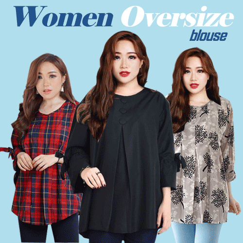 New Update Women Big Size Blouse Deals for only Rp42.000 instead of Rp89.362