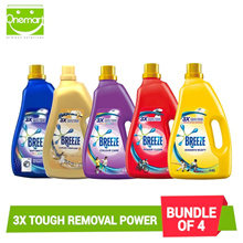 Bundle of 4 Breeze Detergent 3.8 kg with FREE Ponds BB Magic Powder 50g