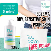 FREE POUCH [Suu Balm 350ml]★ Rapid Itch Relief Moisturiser | Eczema | For Dry Sensitive Itchy Skin