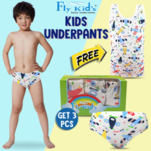 [GET 3 PCS]-Fly Kids Briefs Plane Celana Dalam FK 3134- MultiColour FREE 1pc SINGLET ANAK FKA 2099