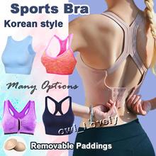 [SG Seller] Sports Bra/ Yoga Bra/ Gym Wear/ Running Bra/ Front Zip Bra/ Sports Wear/ Sleep Bra