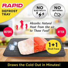 [1+1] Japan クイッ冷凍 Magic Rapid Defrost Tray - Thaws the Cold Out in Minutes!