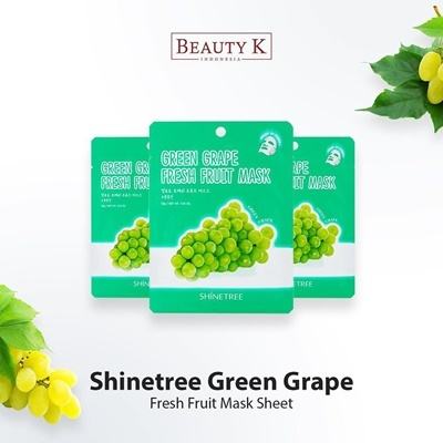 5Pcs Green Grape Fresh Fruit Mask Sheet