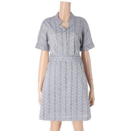 クルラビストレンディパターンポイントヘンリネク綿ワンピースCVOW63703Q 面ワンピース/ 韓国ファッション