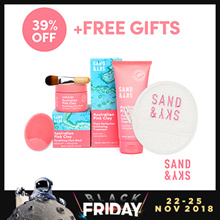 [Sand and Sky] Perfect Skin Bundle (Porefining Face Mask + Exfoliating Treatment)+FREE Cleansing Pad