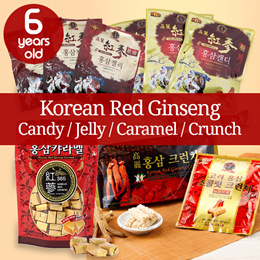 ★6 years old Korean Red Ginseng Candy/Jelly/Caramel/Crunch★Sweets/Snacks/Made in Korea/gg_029