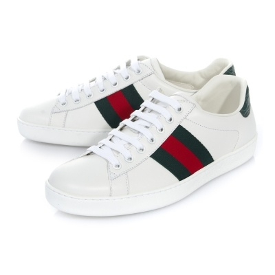 966aaa29080  GUCCI   Ace Leather Sneakers  386750 A3830 9071
