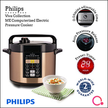 Viva Collection ME Computerised Electric Pressure Cooker  (Non Stick Inner Pot) HD2139/62